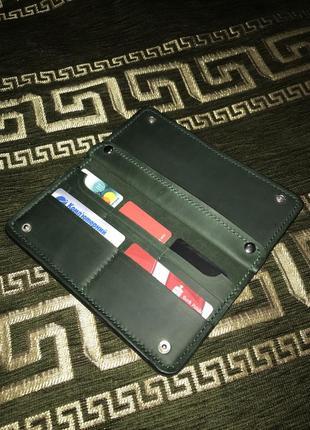 Чоловічий шкіряний гаманець ручна робота