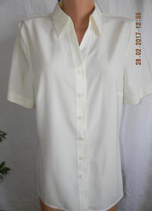 Класичевкая кремовая блуза-рубашка