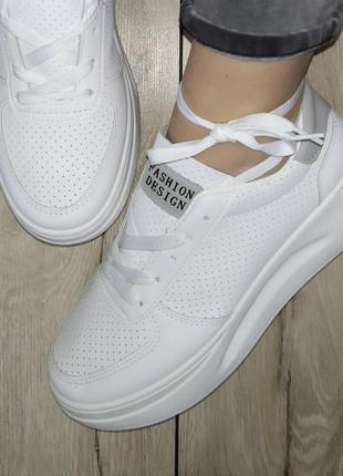 Идеальные кеды ✨  белые кроссовки кеди мокасины перфорация