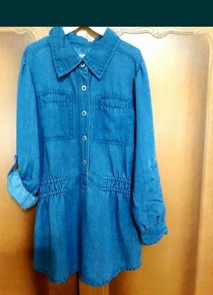 Джинсовое платье, туника