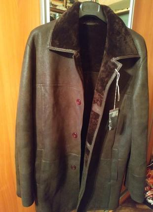 Дубленка мужская 50размер унисекс мода винтаж ретро