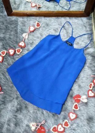 Стильная двойная блуза кофточка топ на бретелях new look