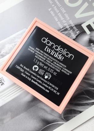 Красивый хайлайтер dandelion twinkle от benefit4 фото
