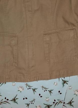 🌿1+1=3 фирменная бежевая джинсовая куртка демисезон next, размер 46 - 482 фото
