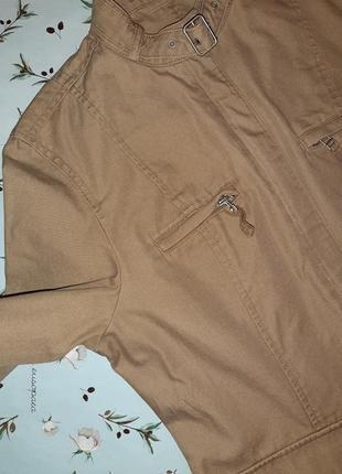 🌿1+1=3 фирменная бежевая джинсовая куртка демисезон next, размер 46 - 488 фото
