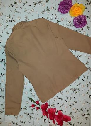 🌿1+1=3 фирменная бежевая джинсовая куртка демисезон next, размер 46 - 484 фото