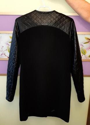 🌿1+1=3 классическое черное пальто шерсть + кашемир x-woyz демисезон, размер 46 - 484 фото
