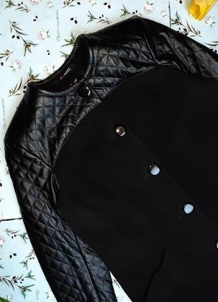 🌿1+1=3 классическое черное пальто шерсть + кашемир x-woyz демисезон, размер 46 - 482 фото