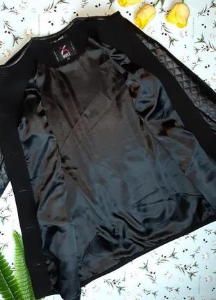🌿1+1=3 классическое черное пальто шерсть + кашемир x-woyz демисезон, размер 46 - 485 фото