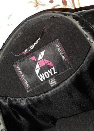 🌿1+1=3 классическое черное пальто шерсть + кашемир x-woyz демисезон, размер 46 - 487 фото