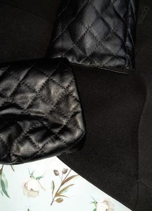 🌿1+1=3 классическое черное пальто шерсть + кашемир x-woyz демисезон, размер 46 - 489 фото