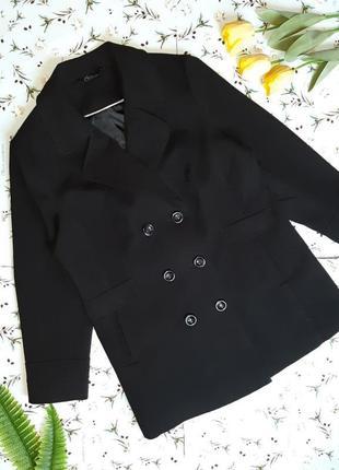 🌿1+1=3 модное черное прямое плотное пальто на пуговицах bm демисезон, размер 52 - 548 фото