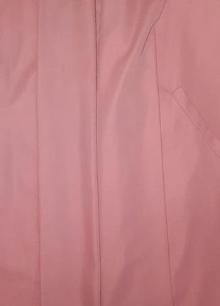 🌿1+1=3 стильное длинное нежно розовое пальто 45% шерсть демисезон осеннее, размер 48 - 502 фото