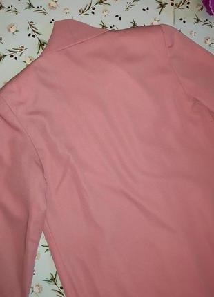 🌿1+1=3 стильное длинное нежно розовое пальто 45% шерсть демисезон осеннее, размер 48 - 506 фото