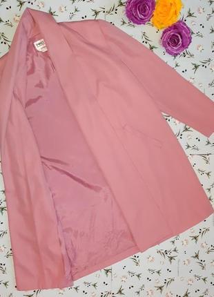 🌿1+1=3 стильное длинное нежно розовое пальто 45% шерсть демисезон осеннее, размер 48 - 504 фото