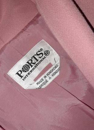 🌿1+1=3 стильное длинное нежно розовое пальто 45% шерсть демисезон осеннее, размер 48 - 509 фото