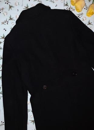 🌿1+1=3 крутое черное плотное шерстяное пальто mexx (80% шерсть) демисезон, размер 46 - 483 фото
