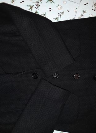 🌿1+1=3 крутое черное плотное шерстяное пальто mexx (80% шерсть) демисезон, размер 46 - 484 фото