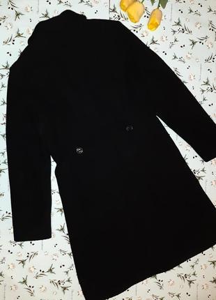 🌿1+1=3 крутое черное плотное шерстяное пальто mexx (80% шерсть) демисезон, размер 46 - 485 фото