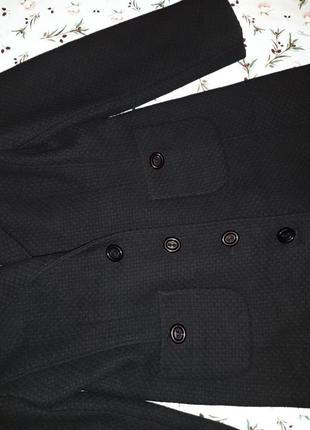 🌿1+1=3 крутое черное плотное шерстяное пальто mexx (80% шерсть) демисезон, размер 46 - 4810 фото