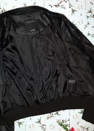🌿1+1=3 крутая кожаная черная куртка на молнии therapy демисезон, размер 46 - 485 фото