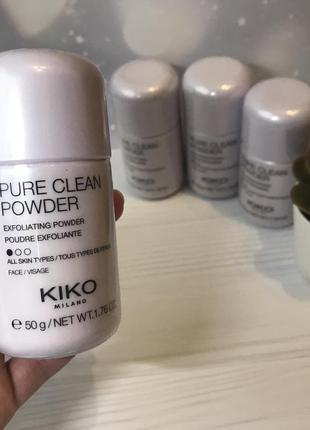 Отшелушивающая чистящая пудра kiko