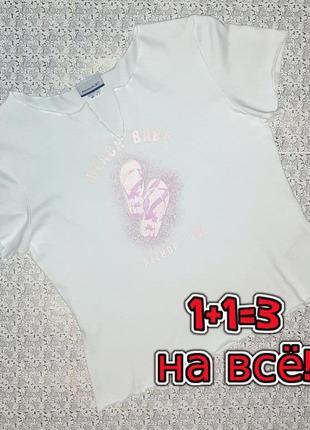 🌿1+1=3 фирменная белая базовая женская футболка reebok, размер 46 - 48