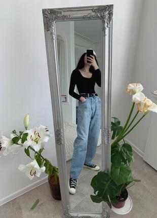 Крутые мом джинсы бойфренды lee на высокой посадке