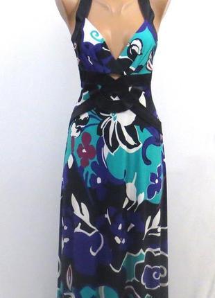 Роскошный длинный сарафан платье в пол стройнит размер: 44-46-s-m