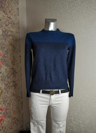 Свитер calvin klein #xs #s #сине-бирюзовый #серый