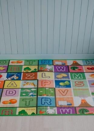 Детский  коврик для игр  азбука 1.5 х1.8