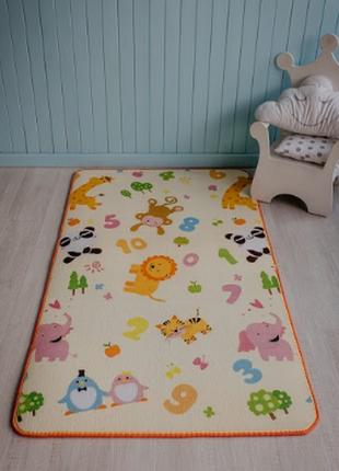 Детский  коврик для игр  зоопарк 1.5 х1.8