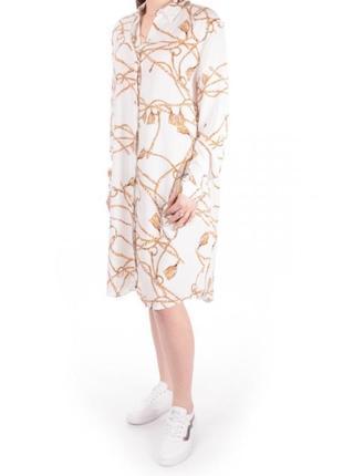 Красивое летнее белое платье рубашка