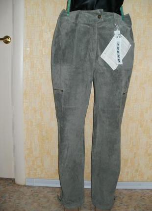 Vip новые шикарные брюки из натуральной  замши кожаные брюки брюки брюки замшевые