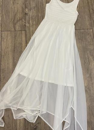 Белое платье в пол divided p.34