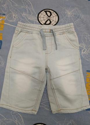 Трикотажные шорты под джинс