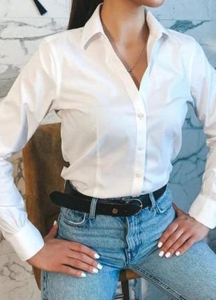 Hugo boss базовая белая рубашка, рубаха, сорочка, блузка