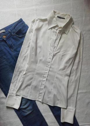Hugo boss базовая белая рубашка, рубаха, сорочка, блузка2 фото