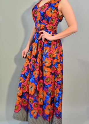 4277\60 длинное шелковистое платье dp xl
