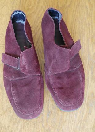 Туфлі замшеві розмір 7 1/2 на 40 стелька 26,5 см footglove з нюансом