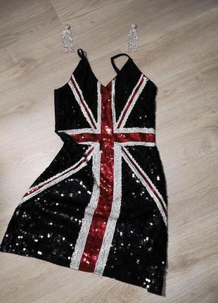 Супер стильное платье в паетки, вечернее,нарядное, zara