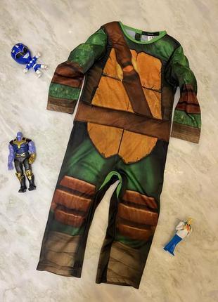Карнавальный маскарадный костюм черепашки ниндзя супергероя