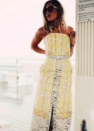 Шикарное жаккардовое вечернее платье миди h&m conscious exclusive.2 фото