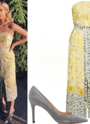 Шикарное жаккардовое вечернее платье миди h&m conscious exclusive.4 фото