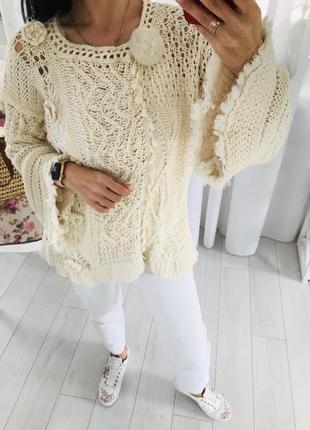 Стильный итальянский свитер крупной вязки twin-set simona barbieri twin-set