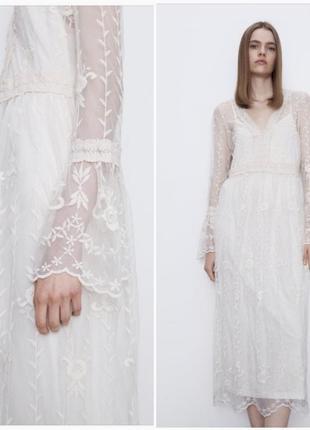 Шикарное платье zara, размеры