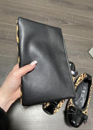 Балетки geox leather и клатч кожанный сумка кросбоди3 фото