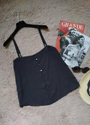 Актуальный кроп топ на пуговицах/майка/кофточка/блузка/блуза