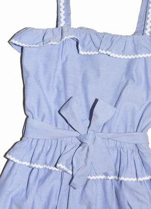 Хлопковое платье с оборками и поясом boutique by jaeger3 фото