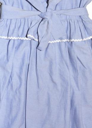 Хлопковое платье с оборками и поясом boutique by jaeger5 фото